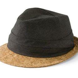 "<a href=""http://www.sandiegohat.com/Womens/FedorasBoaters/EBH9796OSCHR""> San Diego Hat Co. fedora with cork brim</a>, $72 via sandiegohat.com"