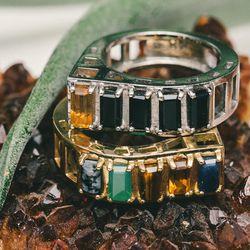 "Silver crown ring; <a href=""http://www.aeajewelry.com/shop-all/crown-ring"">$750</a>; Gold crown ring, <a href=""http://www.aeajewelry.com/shop-all/crown-ring-1"">$1,900</a>"