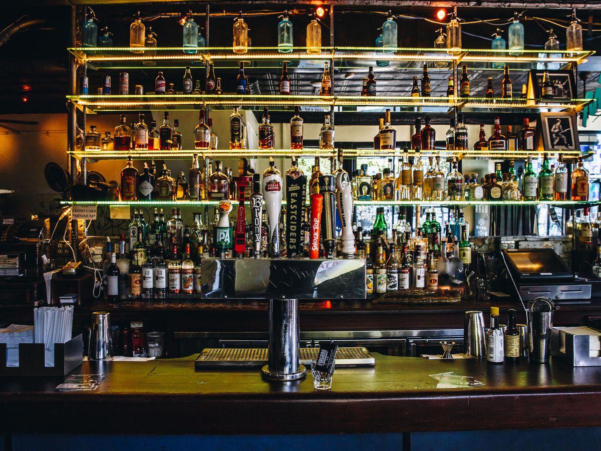 A bar with tons of liquor