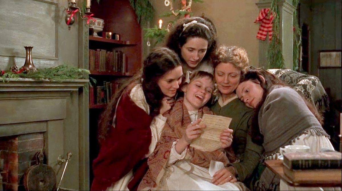 The women of the March family gather to read a letter in 1994's Little Women