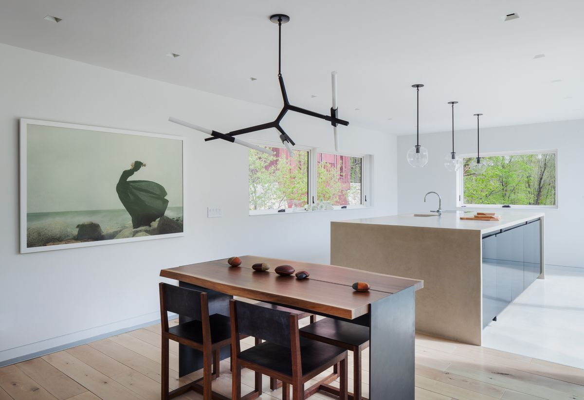 The kitchen and dining area of a home in Garrison, NY.