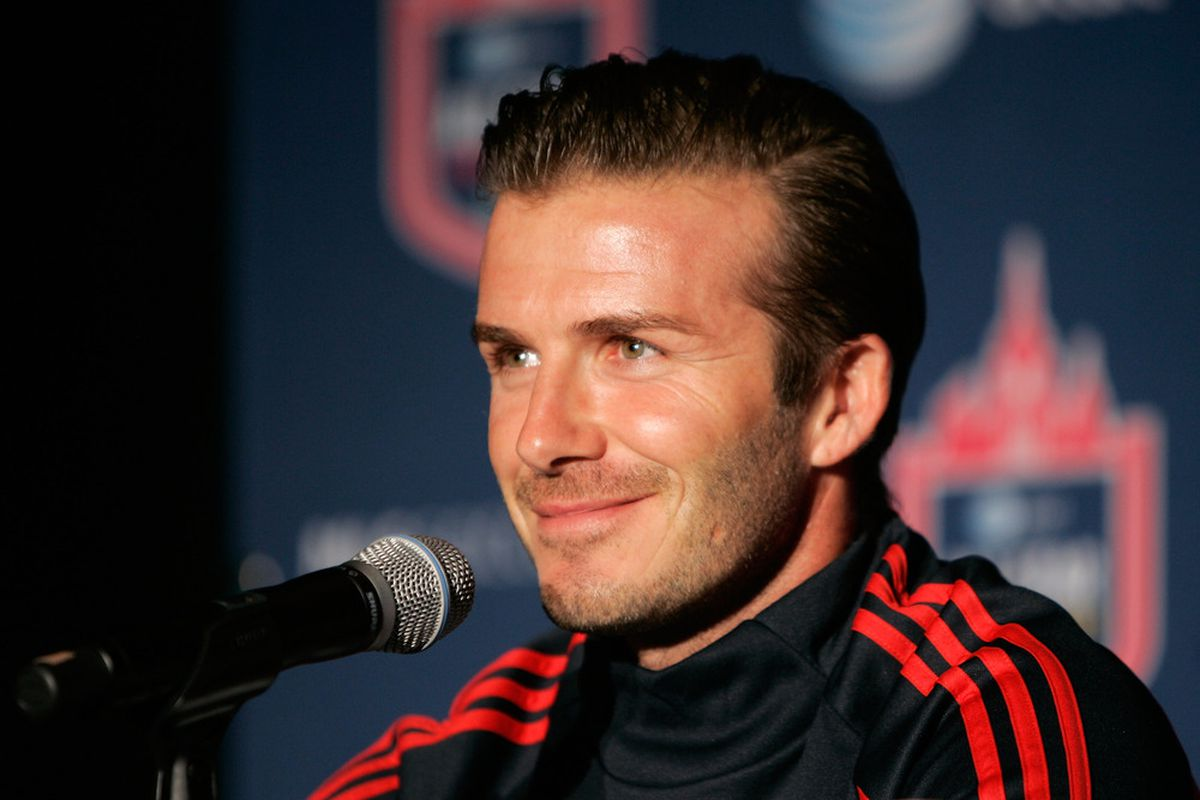 You tell 'em, Becks!  (Photo by Mike Lawrie/Getty Images)