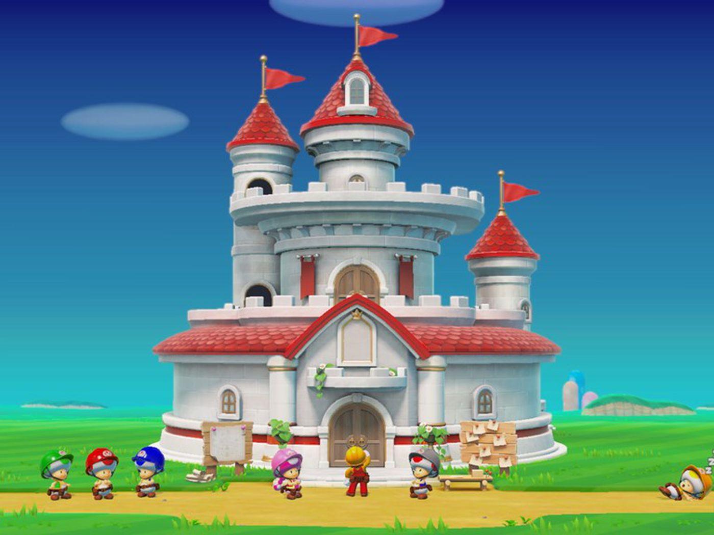 mario bros background castle
