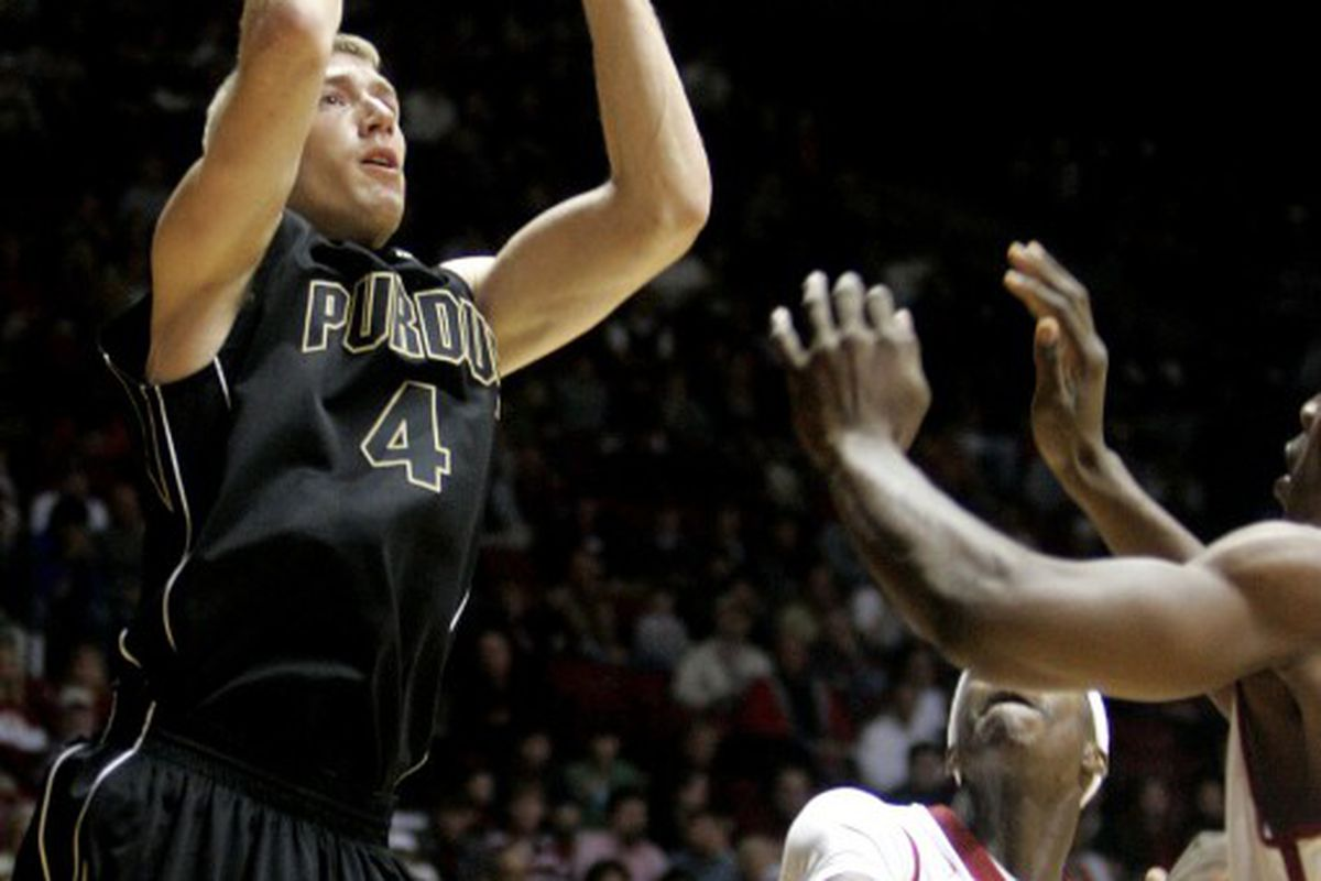 Robbie Hummel, back from two knee surgeries, is averaging 20 points per game thus far this season for Purdue. Butch Dill   Associated Press