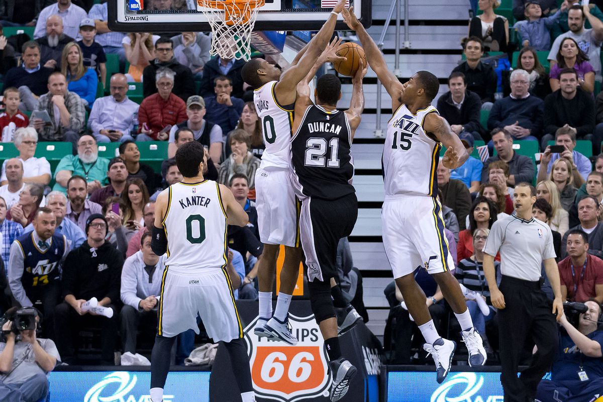 Wait what? BURKS *and* KANTER? How long ago was this last Jazz win vs. SAS?
