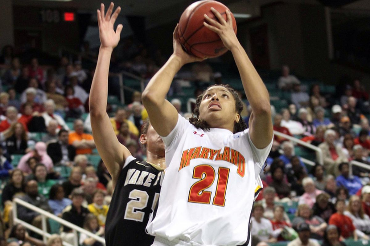 Tianna Hawkins followed up her 24-rebound performance at home against Wake last year with a double-double on senior day.