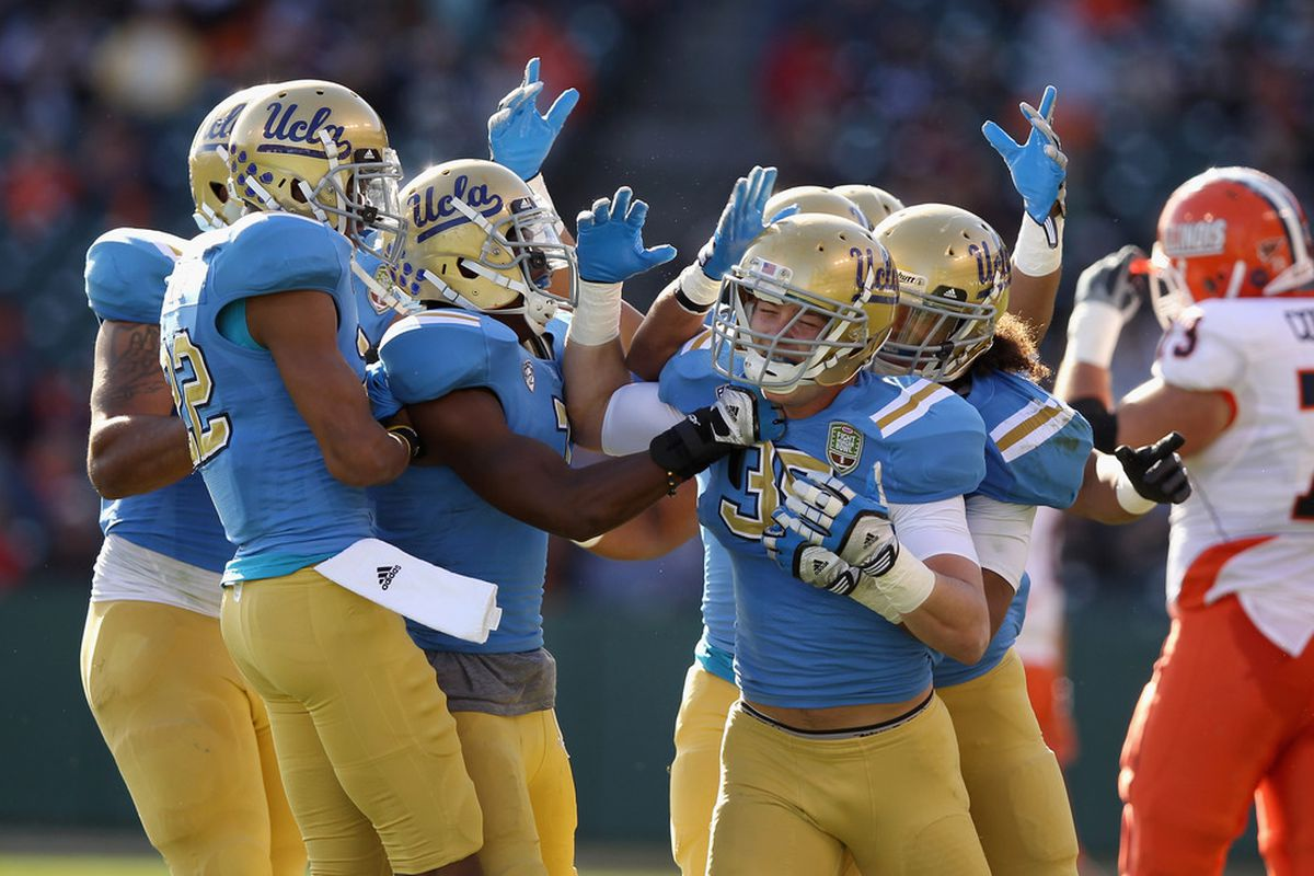 """Bruins can't repeat the pattern of of an up and down 6-8 win football season coming from """"patchwork of wins and letdowns.""""  (Photo by Ezra Shaw/Getty Images)"""