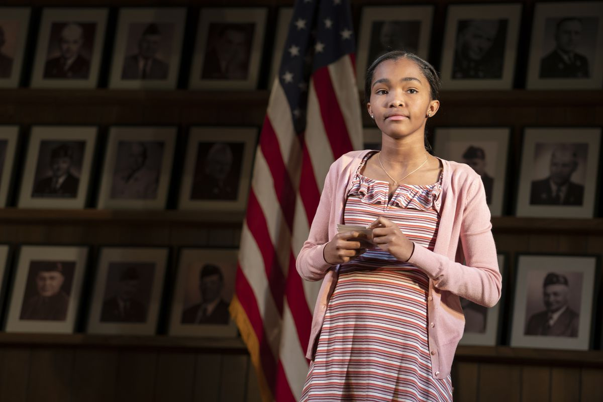 Rosdely Ciprian, one of two teenage debaters in the Broadway production of What the Constitution Means to Me.