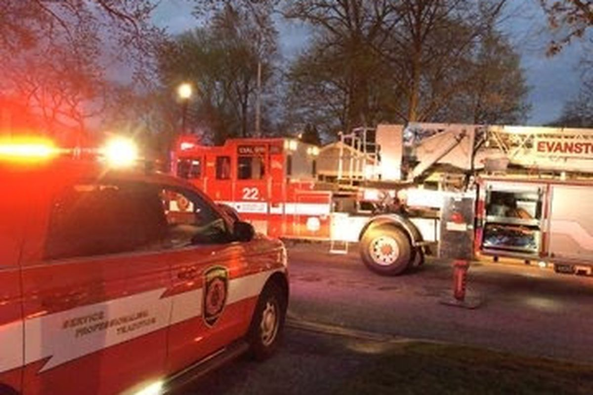 A family was displaced by a fire May 2, 2020, in Evanston.