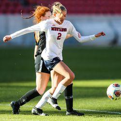 Crimson Cliffs takes on Ogden during a 4A high school girls soccer semifinal against Crimson Cliffs at Rio Tinto Stadium in Sandy on Thursday, Oct. 22, 2020.