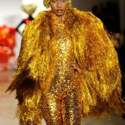 NEW YORK, NY - FEBRUARY 16:  A model walks the runway at The Blonds Fall 2011 fashion show during Mercedes-Benz Fashion Week at Milk Studios on February 16, 2011 in New York City.  (Photo by Fernanda Calfat/Getty Images)