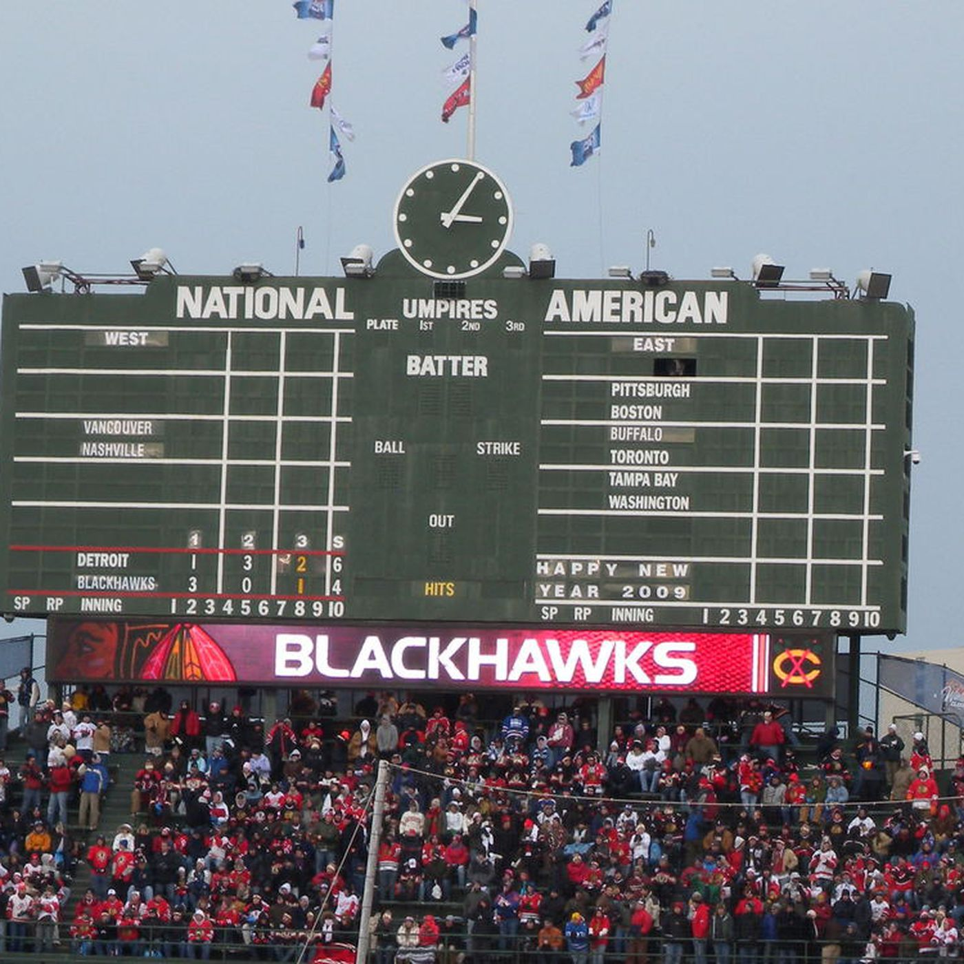 10 years ago today, the NHL's Winter Classic was at Wrigley