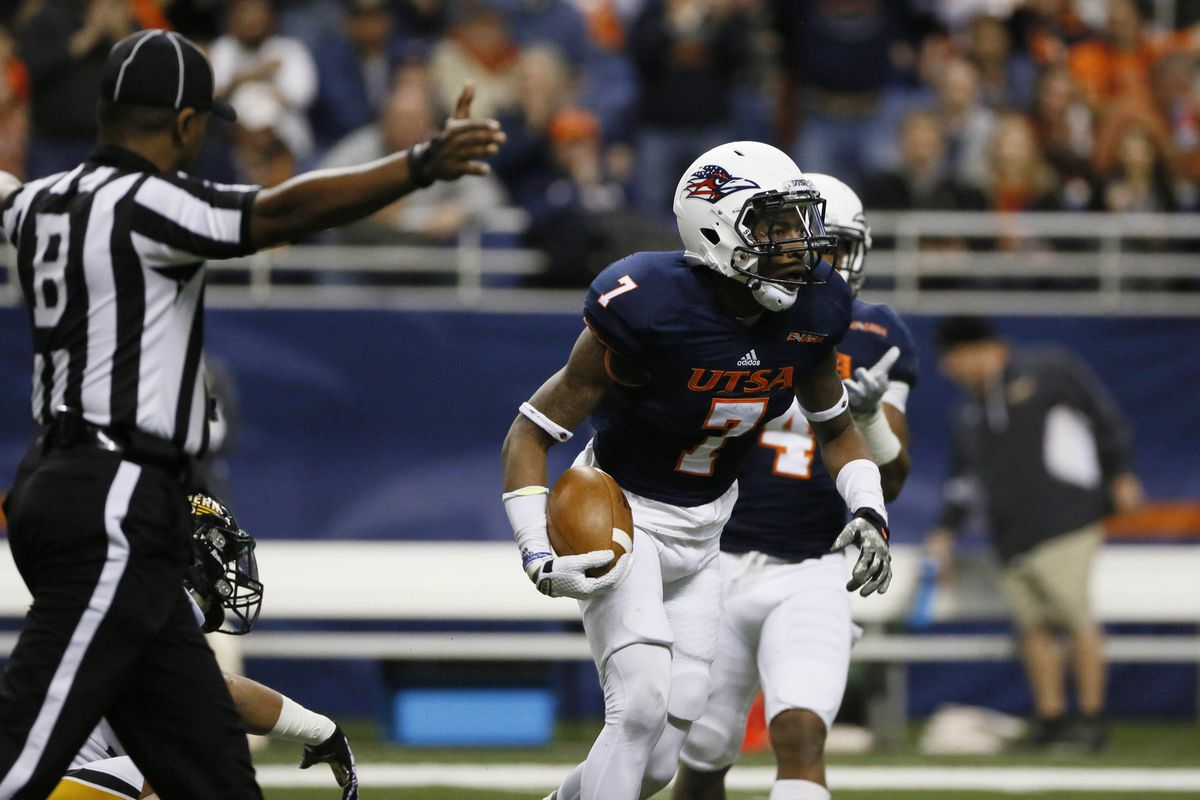 Former Roadrunner Triston Wade will be looking to celebrate his first NFL interception this fall