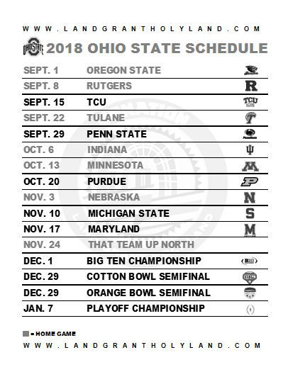 Refreshing image regarding penn state football schedule printable