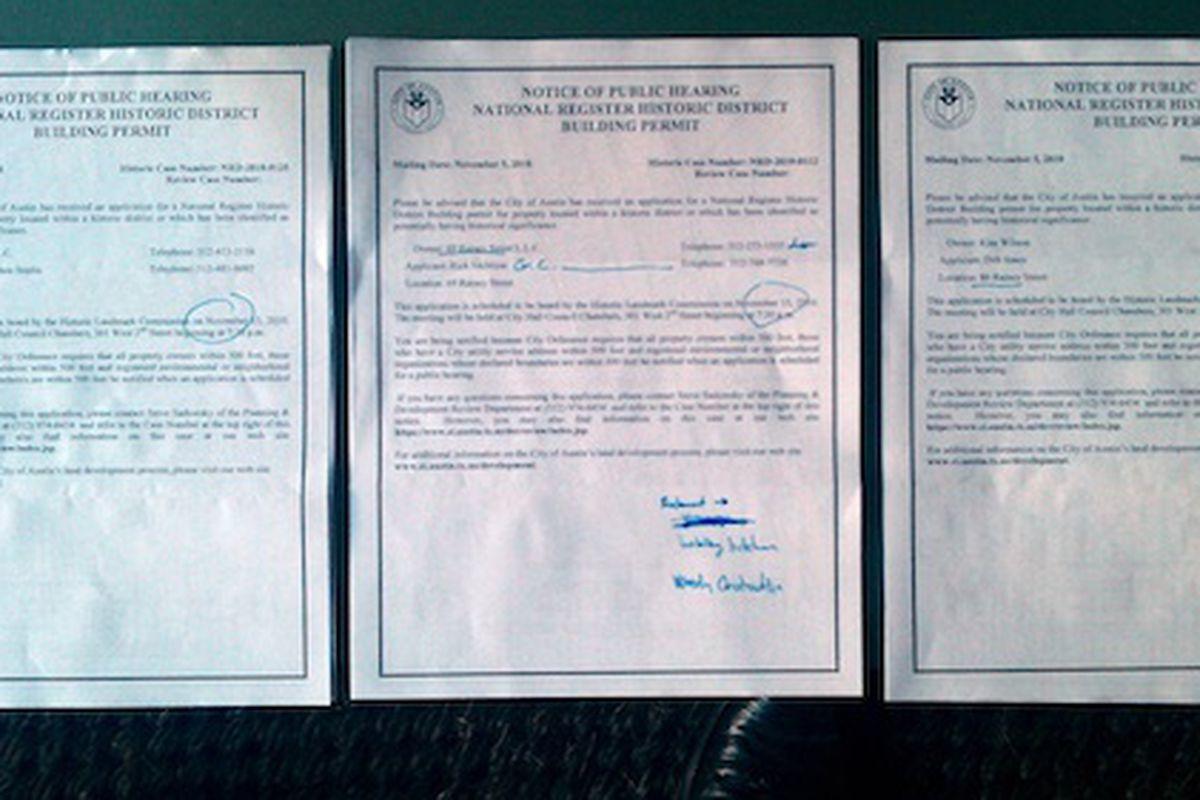 Permits.