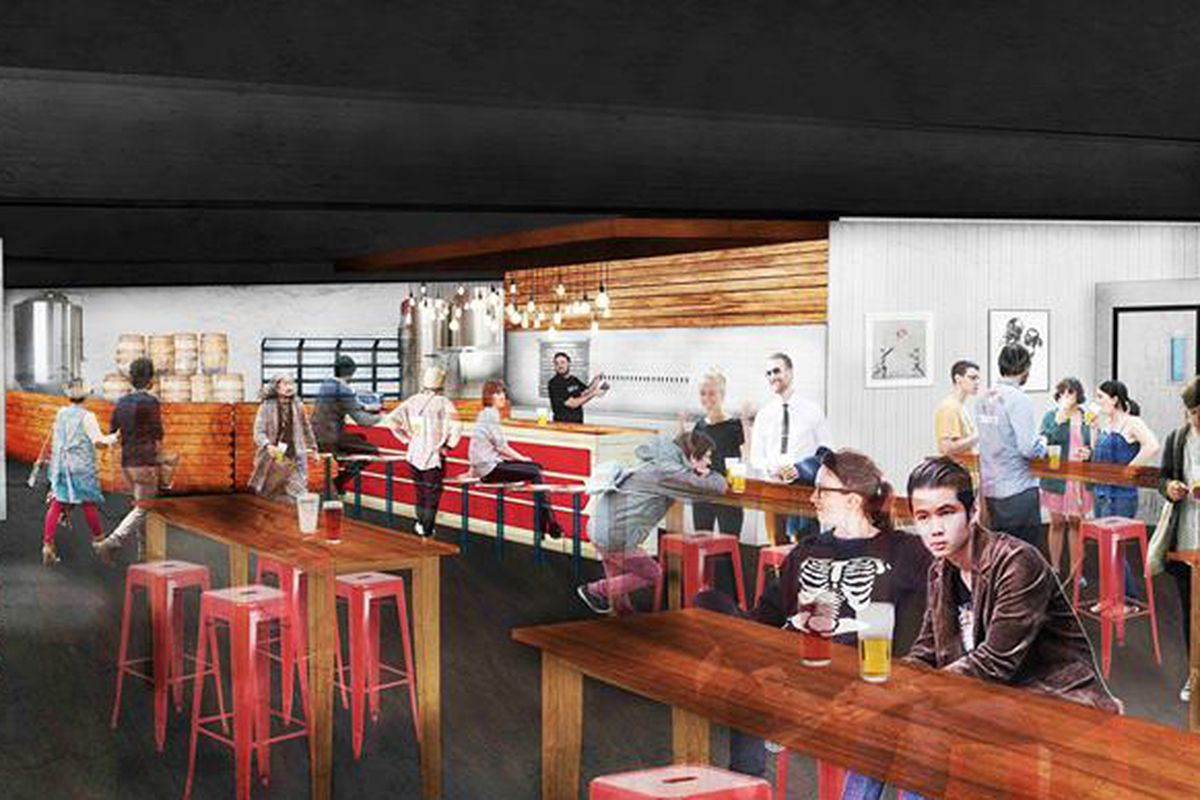 Rendering of St. Elmo Brewing Company