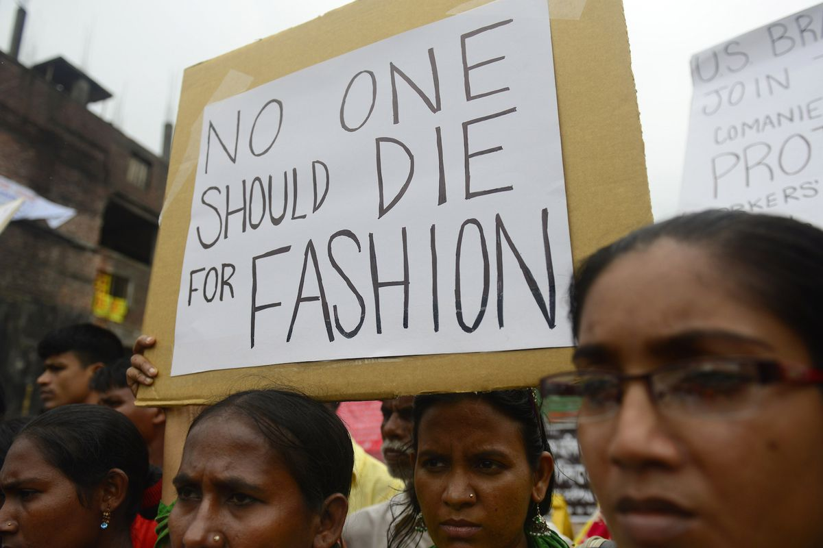 At the site of the Rana Plaza collapse. Photo: Getty Images