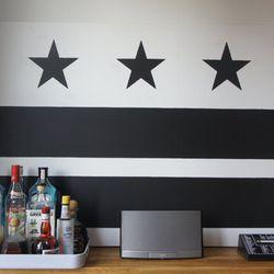 "Custom canvas D.C. flag at <a href=""http://www.etsy.com/transaction/157448411?"">Flagged DC's</a> Etsy shop."
