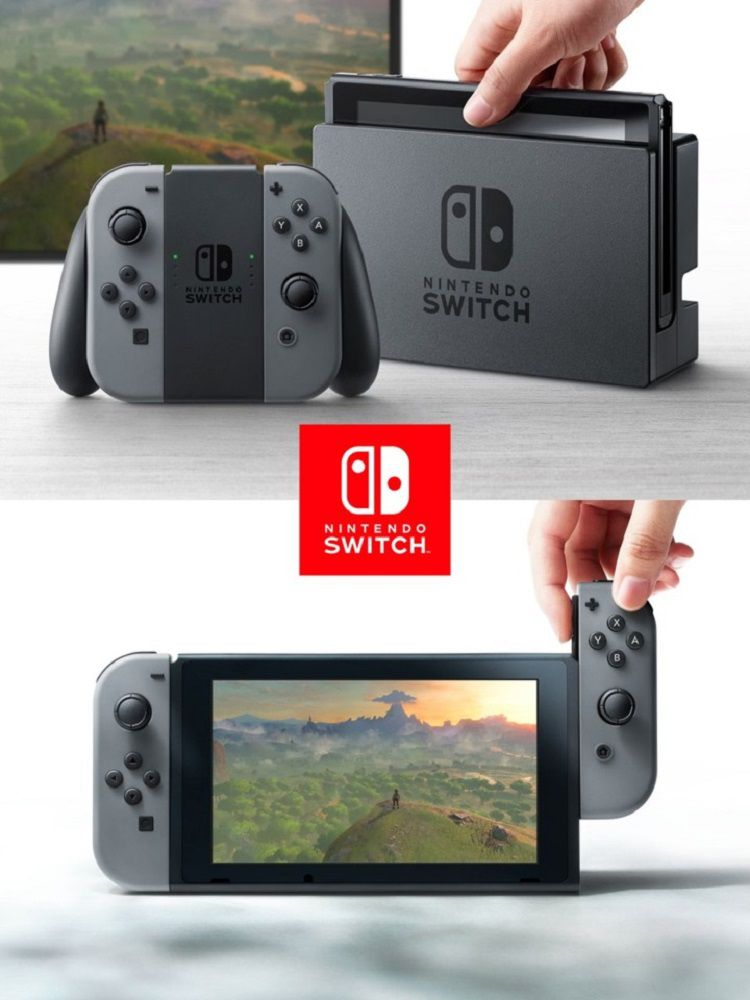 The Nintendo Switch console.