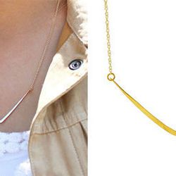 Delicate jewelry is a must for any cool mom and this <b>Kris Nations Sedona Bar Necklace</b> will look sleek with her everyday wardrobe. It's a perfect necklace to layer with one of Kris' charm necklaces too. Choose from 14k gold filled or sterling silver