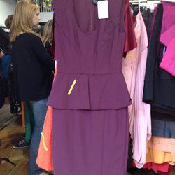 <b>Yigal Azrouel</b> purple peplum dress, $190 (from $1,095)