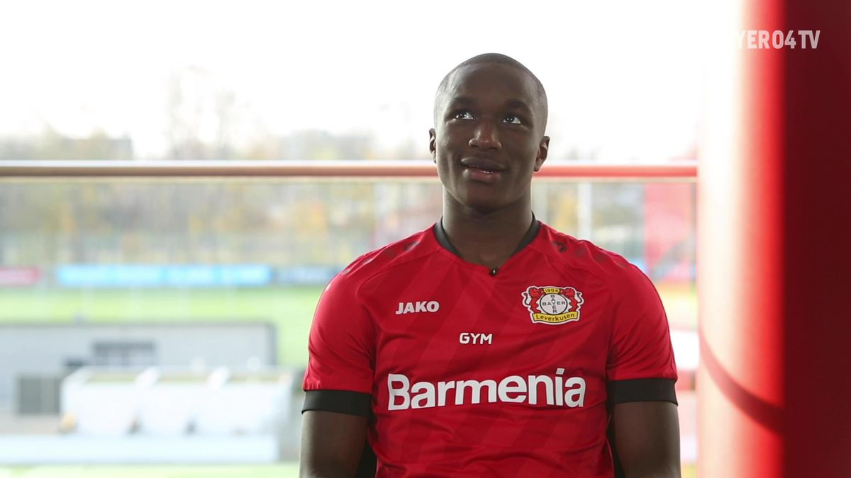 Moussa Diaby in a video interview with Bavarian Football Works, courtesy of Bayer 04 Leverkusen.