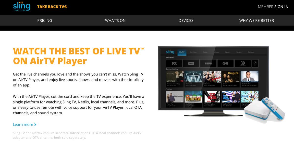 Dish's AirTV Player set-top box will combine Sling TV