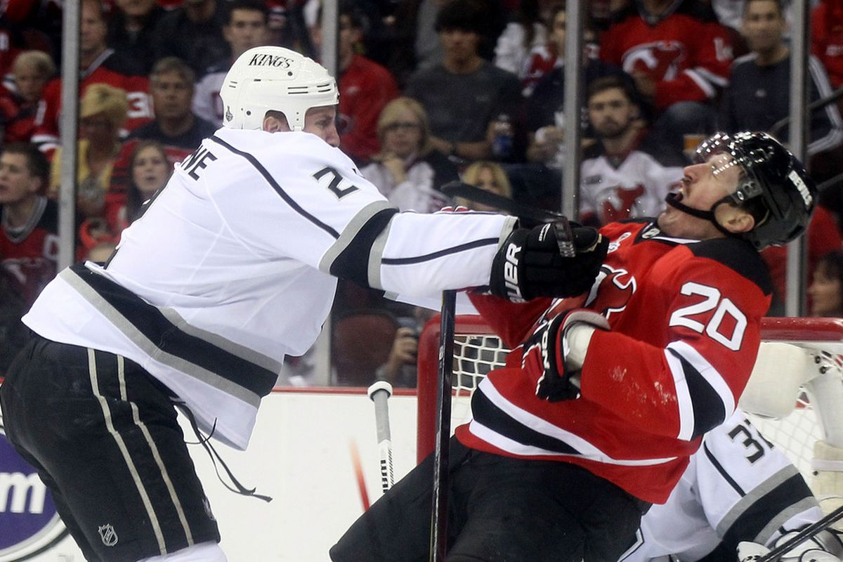 THAT's a penalty?! Bullshit! (Photo by Elsa/Getty Images)