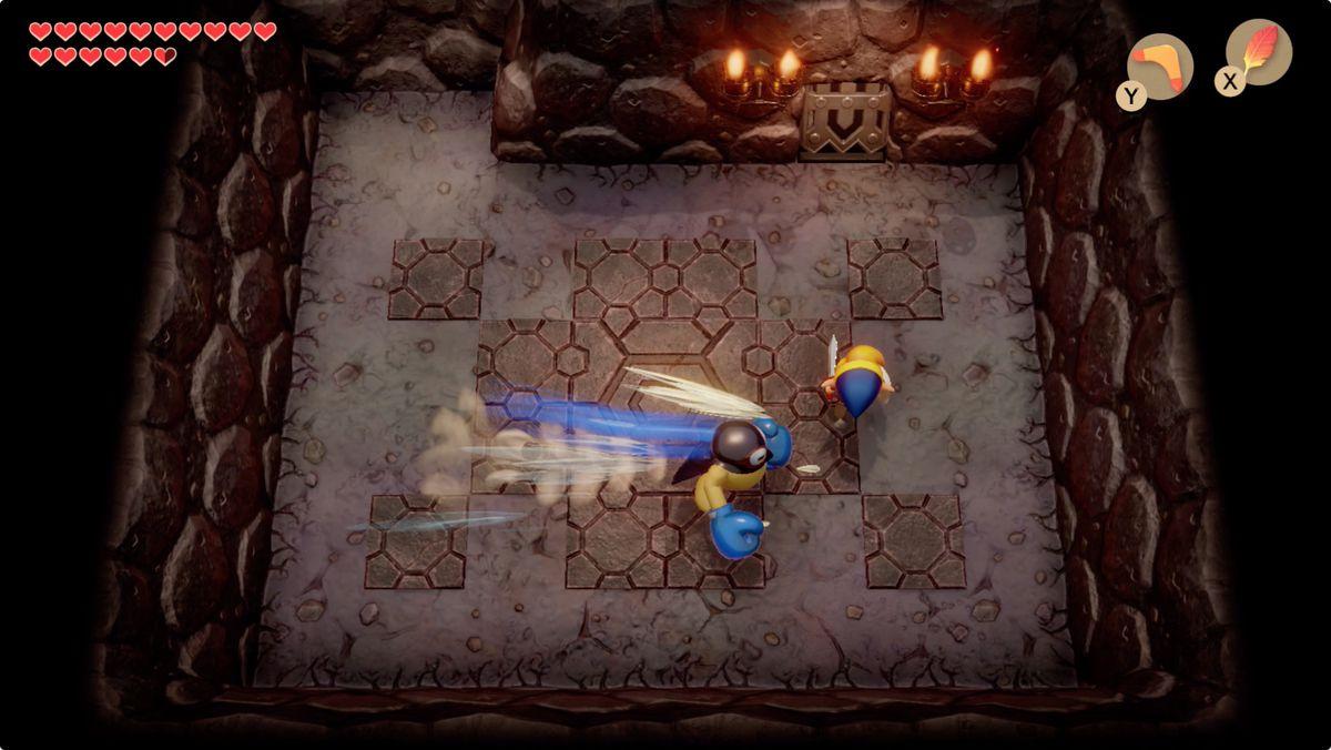 Link's Awakening Turtle RockBlaino mini-boss fight