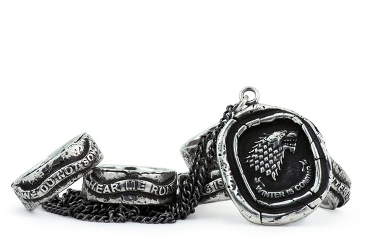 """Pyrrha's Game of Thrones collection. Image <a href=""""http://wwd2.wwd.com/fashion-news/fashion-scoops/pyrrha-creates-game-of-thrones-collection-7627975"""">via</a>."""