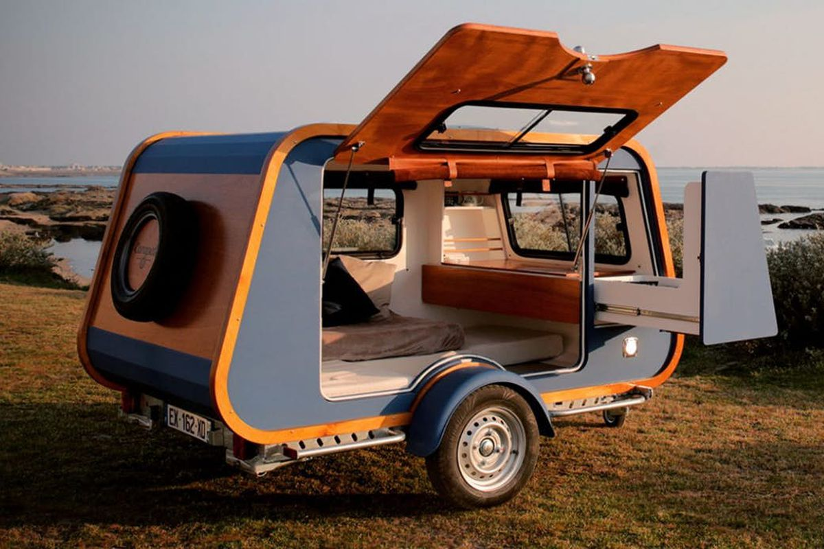Yacht-like camper trailer can be towed by most cars - Curbed