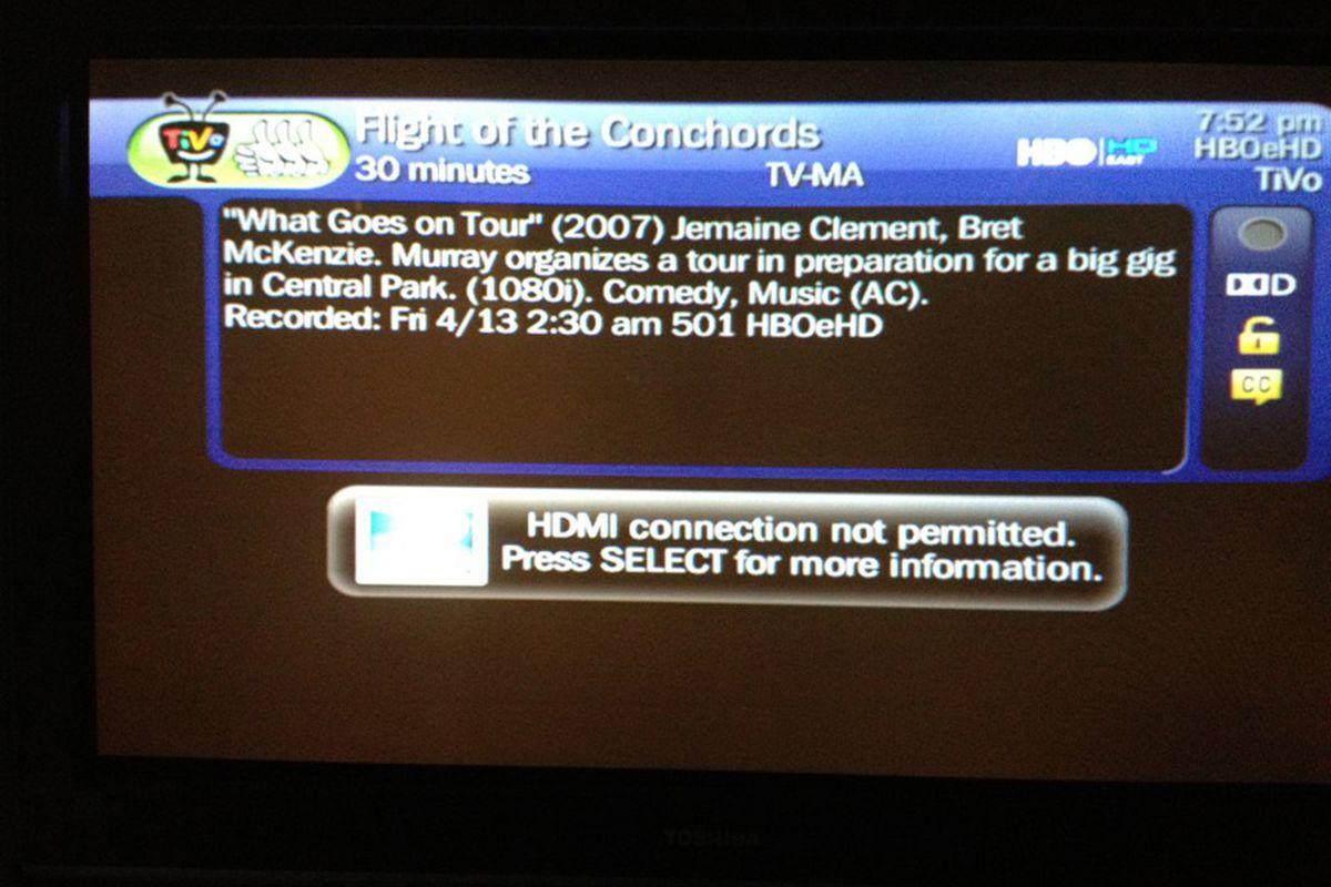 HBO direcTV blocked