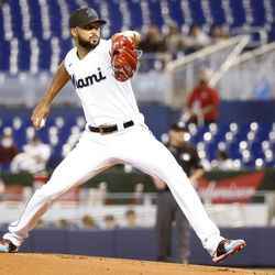 Sandy Alcantara, Marlins starting pitcher on Friday