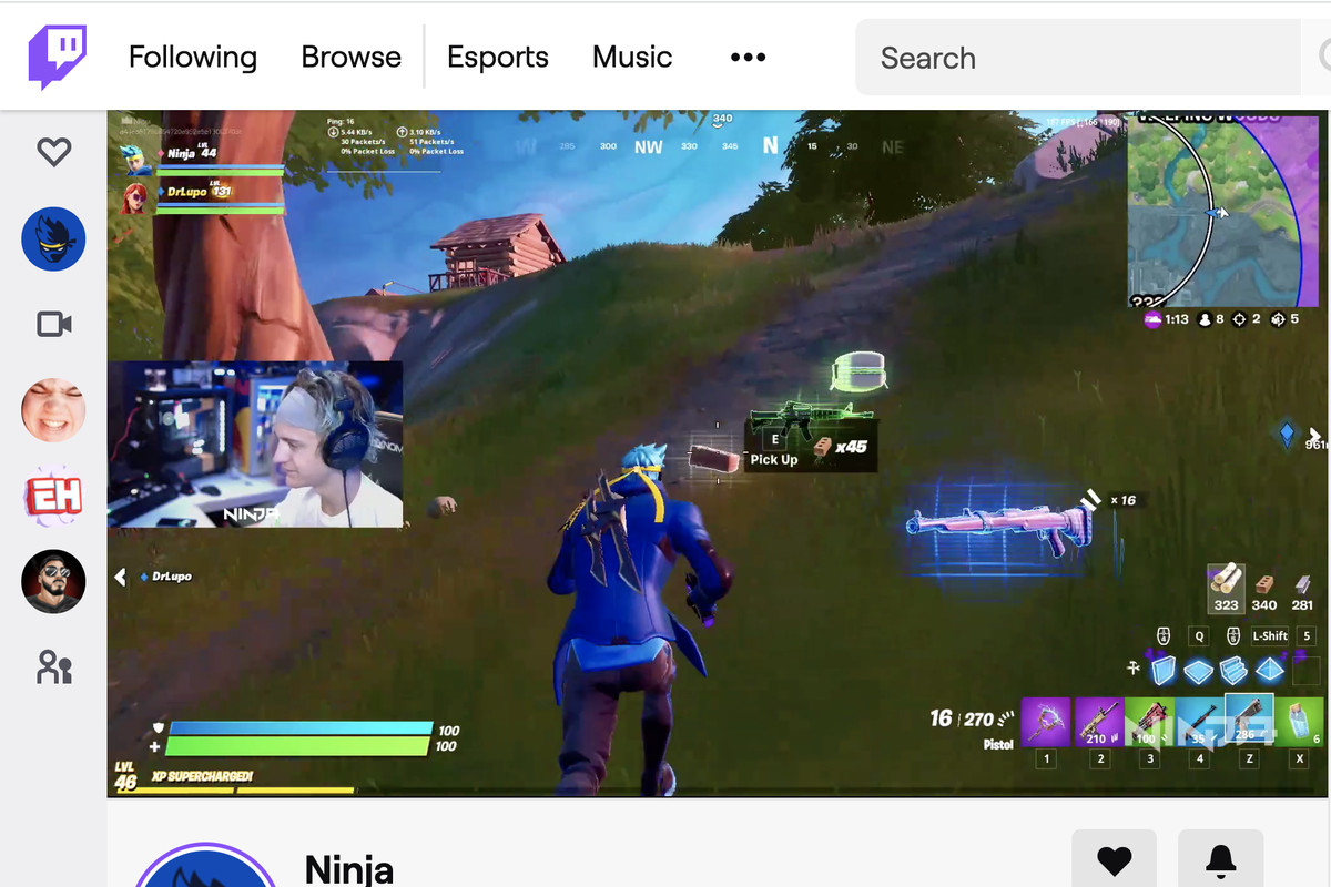 Ninja returns to Twitch for first time since Mixer shut down - The Verge