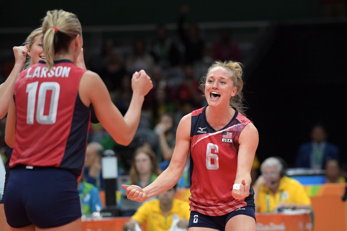 Olympics: Volleyball-Women's Team-Preliminary Round Group B-United States (USA) vs Serbia (SRB)