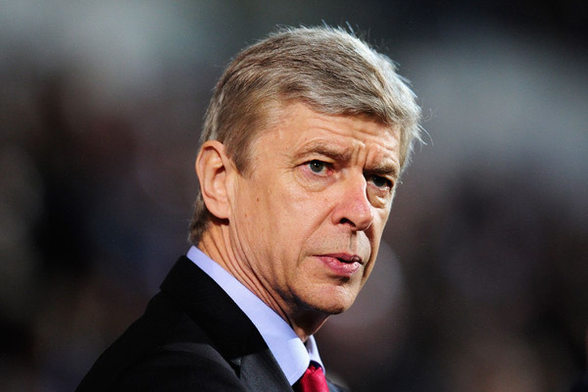 Arsene.... Probably struggiling to see a debated penalty or red card?  (Photo by Jamie McDonald/Getty Images)
