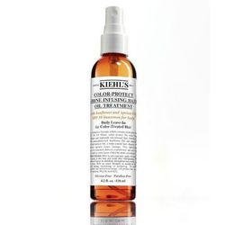 """Don't let the """"Color-Protect"""" name scare you: this leave-in conditioner with SPF will keep any head of hair healthy during a day in the sun. <strong>Kiehl's</strong> Color-Protect Shine Infusing Hair Oil Treatment, <a href=""""http://www.kiehls.com/Color-Pro"""