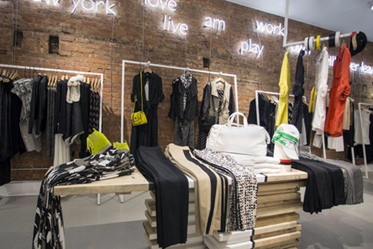 """Image via <a href=""""http://www.wwd.com/retail-news/designer-luxury/dkny-opens-ny-pop-up-6816150"""">WWD</a>"""