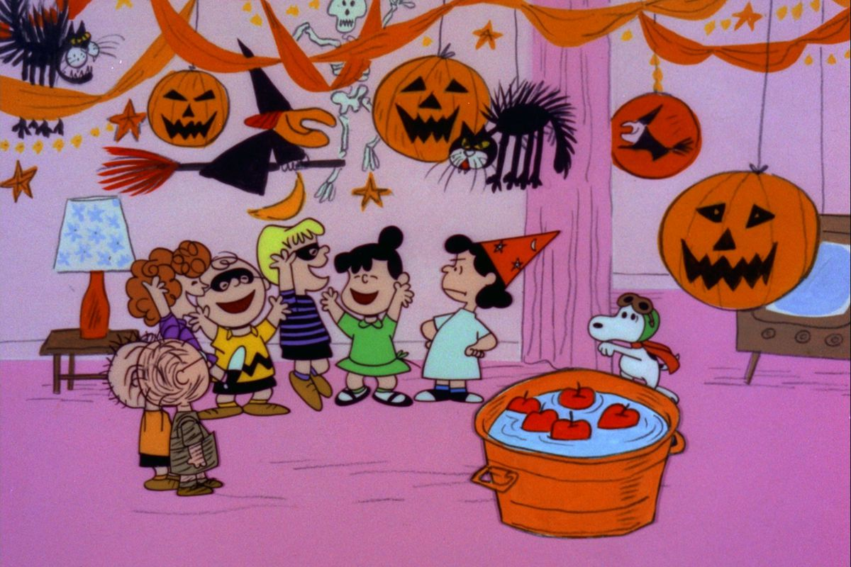 Snoopy sneaks into the Halloween party in It's the Great Pumpkin, Charlie Brown.