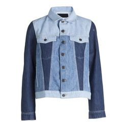 Patchwork denim jacket, $149