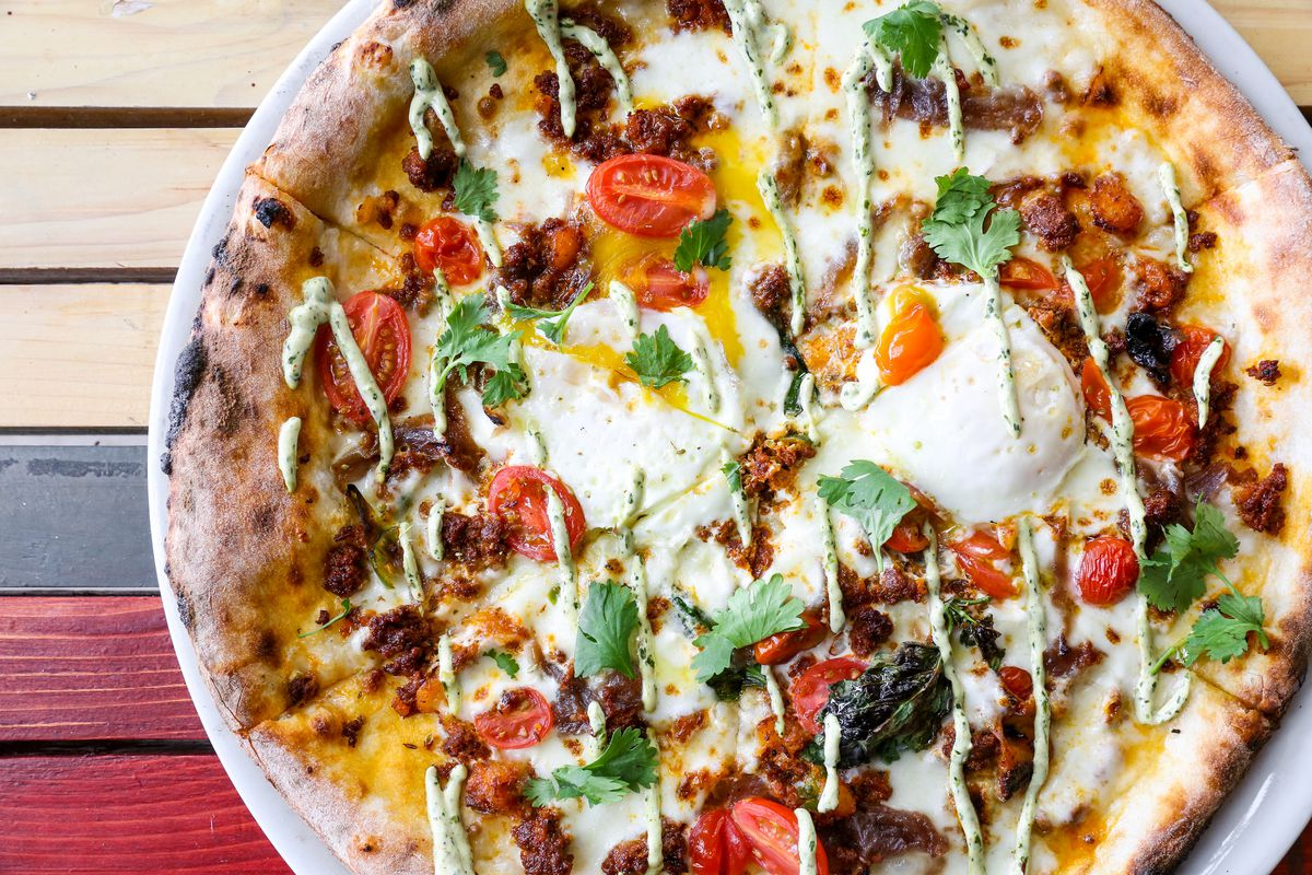 Breakfast taco pizza from Cane Rosso