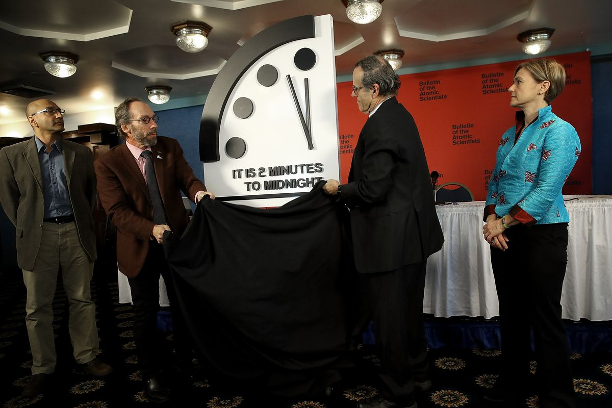 Bulletin Of The Atomic Scientists Moves The 'Doomsday Clock' 30 Seconds Closer To Symbolic Apocalypse