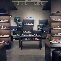 The men's shoe department.