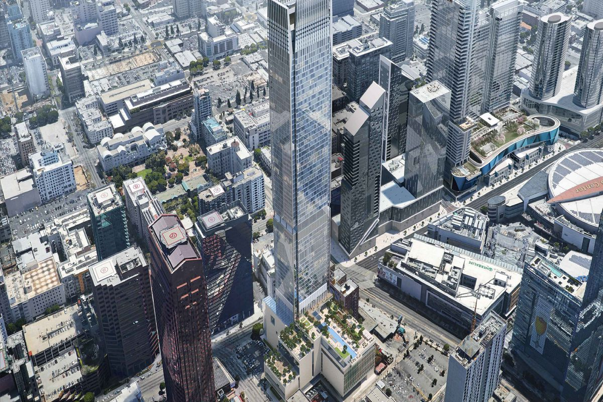 66 Story Downtown La Tower Plans To Open In 2023 Curbed La