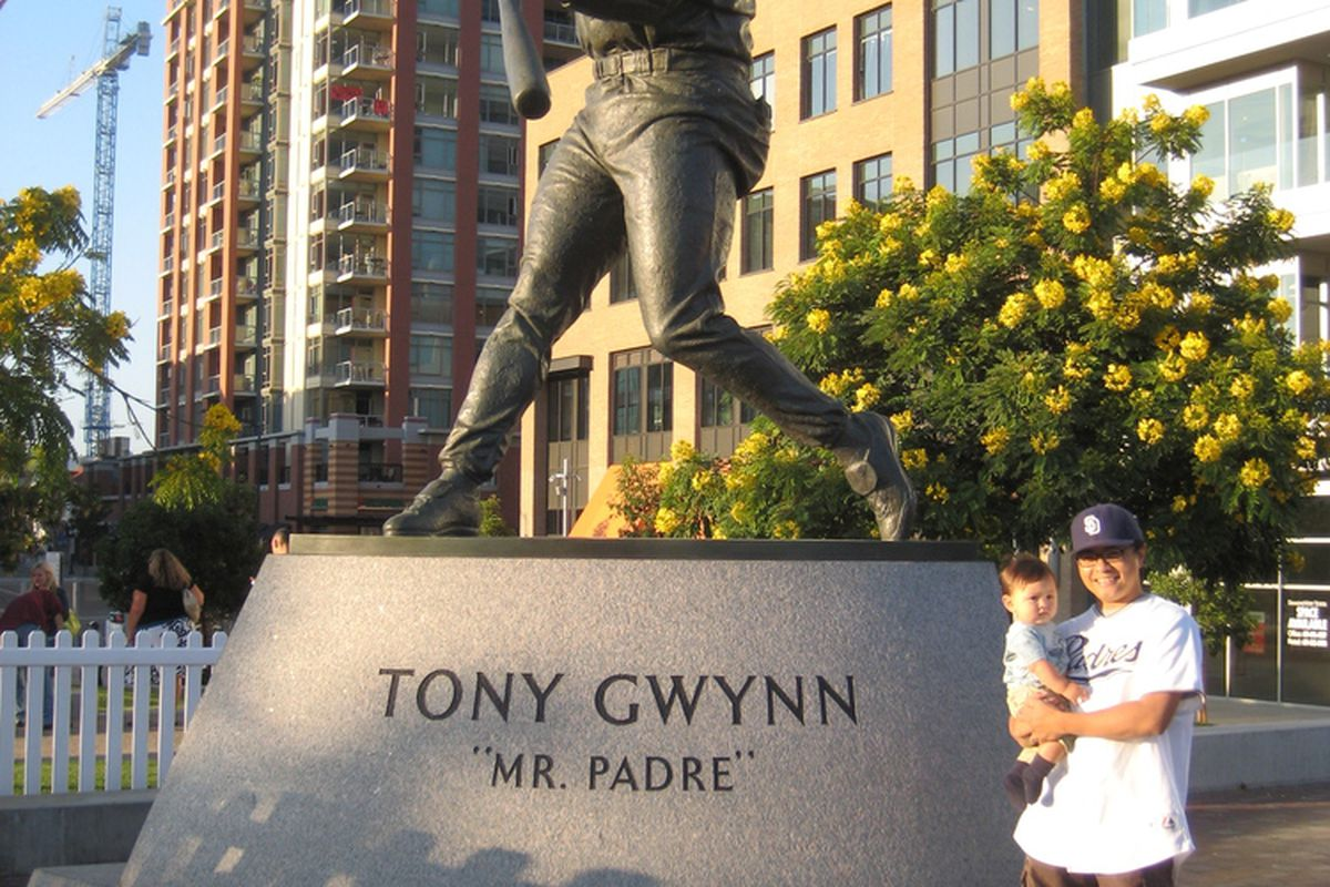 Me and Elliott and Mr. Gwynn Statue