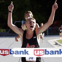 American Fork's Mackenzie Morrison comes from behind to win the 5A boys individual title.