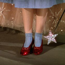 """Dorothy's ruby slippers in """"The Wizard of Oz."""""""