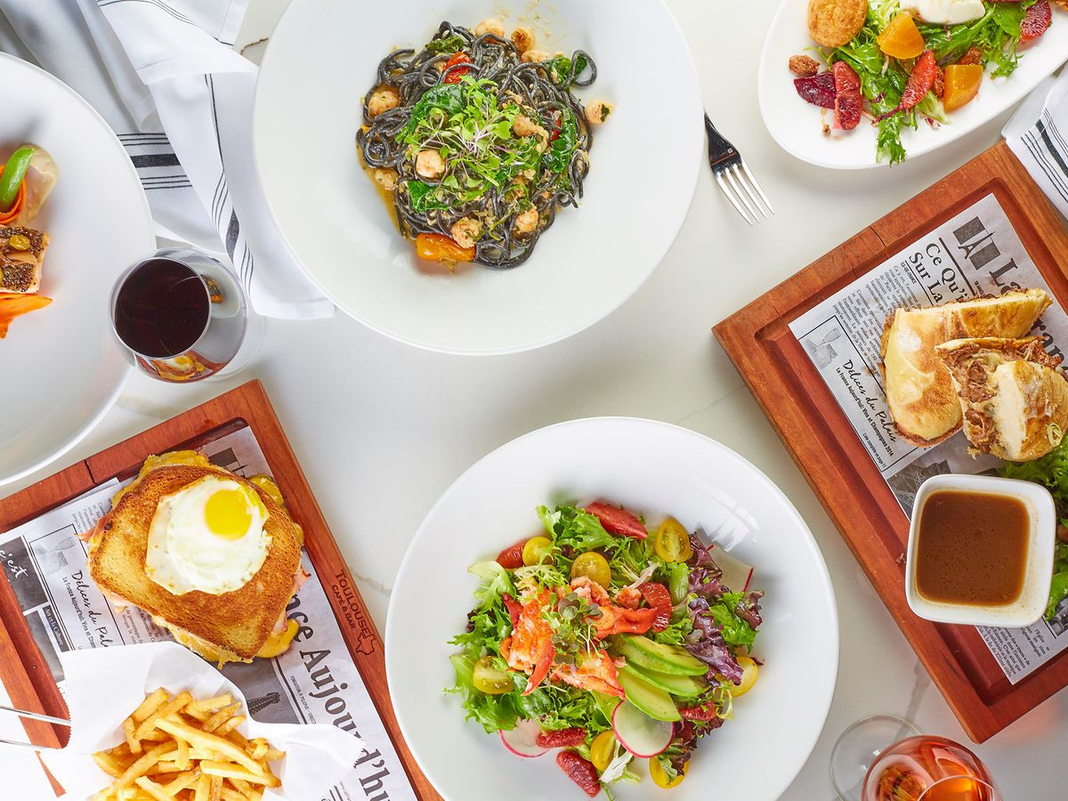 A spread of French dishes from Toulouse