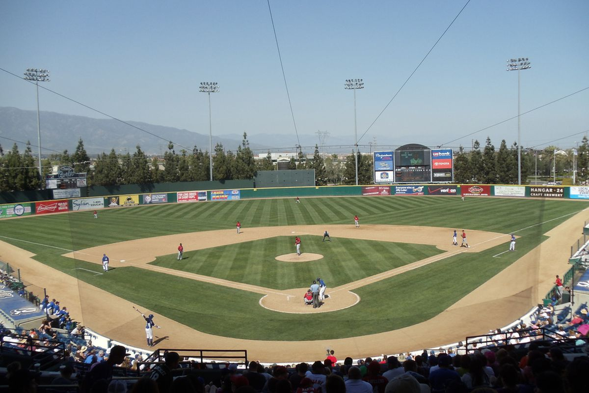 View from the Press Box at the Epicenter (Rancho Cucamonga Quakes Stadium)