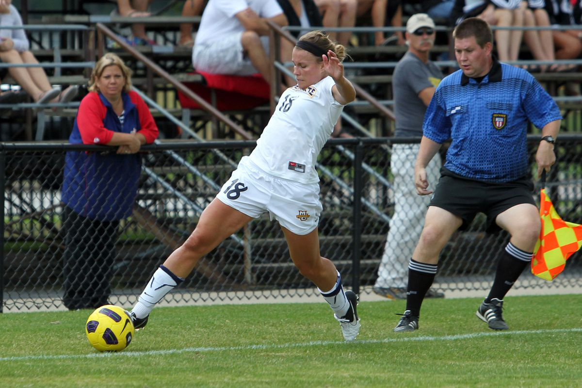 A foul on senior Rachel Sloan opened the door for Marquette to score the winning goal.